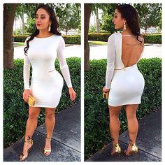 Beautiful open back dresses with zipper detail