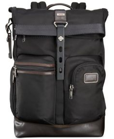 From the Tumi Bravo collection of soft, unstructured and more casual business and travel designs comes this ruggedly refined roll-top backpack tote. Designed to be stuffed, this super-durable bag hold