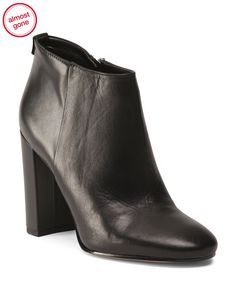 SAM EDELMAN Leather Heeled Booties $59.99