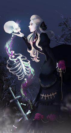 [Art] Lieselotte Lehmann, Necromancer and true blue Witch : DnD
