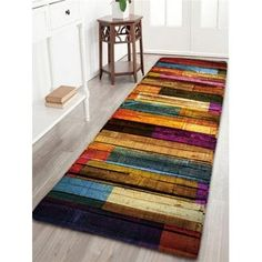 Boho Style Bus Travel Non Slip Flannel Rug Warm Carpet Bathroom Door Mat 40*60cm