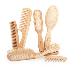 Go for wooden combs. They do not break your hair, scrape your scalp or generate static. Prefer combs over brushes, if you have long or middle-length hair.