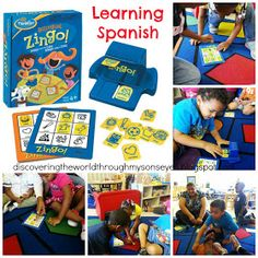 Discovering The World Through My Son's Eyes: Spanish Language Summer Program Day 1: Learning Spanish With Board Games