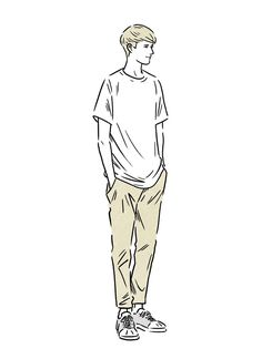 Fashion Illustration Speed Painting with Ink - Drawing On Demand People Illustration, Illustration Sketches, Fashion Design Sketches, Sketch Design, Indie Men, Line Drawing, Art Pictures, Character Design, Mens Fashion