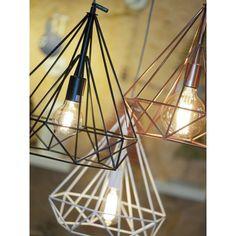 Deze diamant-vormige lampen staan geweldig als eyecatchers in je interieur!
