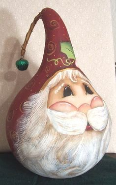 Christamas Gourd CD Santas , snowmen, thanksgiving, angel 12 patterns in all! Hand Painted Gourds, Gourds Birdhouse, Painting Patterns, Wood Patterns, Painting Tutorials, Pintura Country, Santa Ornaments, Christmas Paintings, Gourd Art