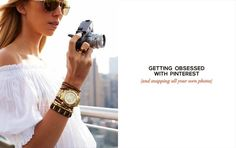 "Michael Kors is - ""Absolutely #FallingInLoveWith @Pinterest."" Share your inspirations with Michael Kors on #Pinterest."