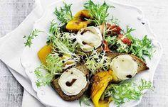 Opskrift på Salat af grillede peberfrugter med gedeost fra - Hjemmet