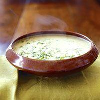 Potato Cheddar Soup with Broccoli and Cauliflower