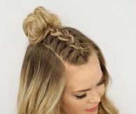 Mohawk Braid top knot hairstyle