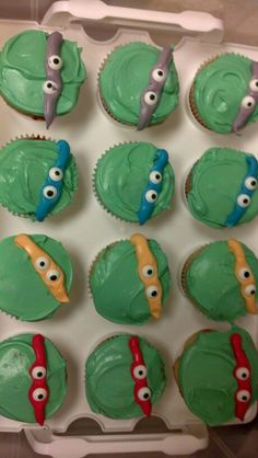TMNT themed cupcakes