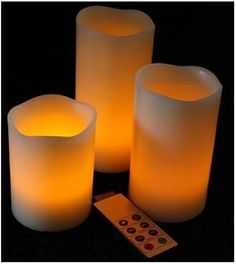 Velas de cera sin llama (LED) (Pack 3)