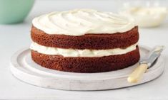 A moist chocolate cake that really can't go wrong and keeps well. It has a wonderful white chocolate icing so the contrast looks stunning, too.