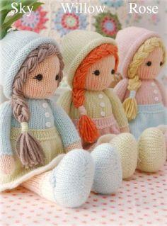 crochet dolls designs Little Yarn Dolls : Method 1 Knitting pattern by Mary Jane's Tearoom - Knitted Doll Patterns, Knitted Dolls, Crochet Dolls, Knitting Patterns, Yarn Dolls, Sock Dolls, Fabric Dolls, Yarn Shop, Knitting Stitches