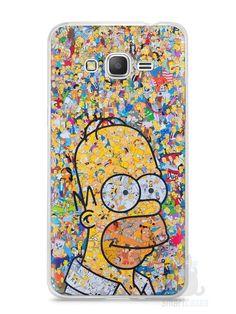 Capa Samsung Gran Prime Homer Simpson Comic Books - SmartCases - Acessórios para celulares e tablets :)