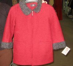 Roter #Kindermantel aus #Alpakawolle