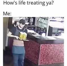 First day of work : Funny Gifs Funny Cute, The Funny, Really Funny, Funny Facts, Funny Jokes, Funny Gifs, Funny Images, Funny Photos, All Meme