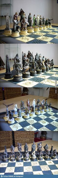 The Lord of the Rings Chess Set. I'm not a chess player... But wow...