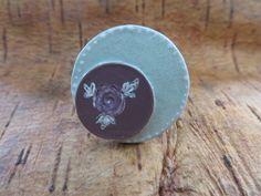 self-made ring with coins and nailpolish
