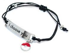 """Pulseira Pokémon """"Eu Escolho Você"""""""