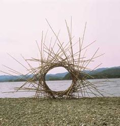 Andy Goldsworthy.  See The Virtual Artist gallery at: www.theartistobjective.com/gallery/index.html