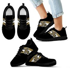 d28e0031fd6e9 Three Colors Vertical New Orleans Saints Sneakers – Best Funny Store Sports  Team Apparel, Sports
