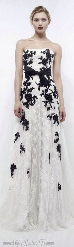 Zuhair Murad - Ready to Wear 2012-2013, black and white gown ht
