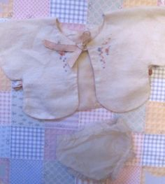 Darling Vintage 1930s Dolly Bed Jacket and Diapers