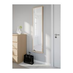 """STAVE Mirror - white stained oak effect, 15 3/4x63 """" - IKEA $39.99"""