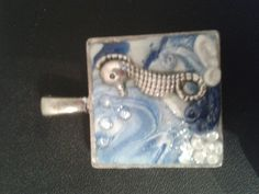 Sea horse and polymer clay pendant made to order
