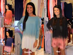 Ombre Piko Tunic Dresses, Short Sleeve Tops and Long Sleeve! $44.50   Call To Run/Ship or Run/Hold