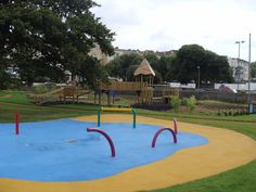A picture of the bridge and splash pad at the Weston Water Adventure Park Weston Super Mare, Splash Pad, All Over The World, Bristol, Bridge, Adventure, Park, City, Water