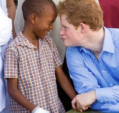 Prince Harry funny. London. Royal Family. He's great with kids,  just like his mum.
