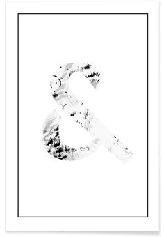 Ampersand als Premium Poster von Natalie Rauch Poster Online, Shops, Bedroom Art, Are You Happy, Typography, Wall Decor, Portrait, Creative, Prints