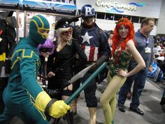 Captain America, Poison Ivy and Additional Characters, San Diego Comic Con, 2010 | Photo by Patty Mooney of Crystal Pyramid Productions in San Diego, California - sandiegovideoproduction.com/video-producers/patty-mooney/