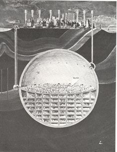 Behold Oscar Newman's 1969 plan to hollow out an entire, nuclear-resistant city under Manhattan. How on Earth would all of this space be made? Why, by burying nuclear weapons deep underground and detonating them, of course.