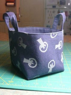 fabric basket - duck cloth means no interfacing!!! No interfacing means I might do it.