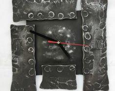 Geometric hand forged clock