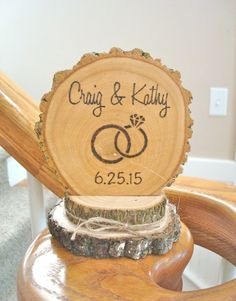 Items similar to Rustic Wedding Cake Topper Wood Wedding Ring Personalized Retro Country Custom on Etsy Country Wedding Cake Toppers, Personalized Wedding Cake Toppers, Wedding Cake Decorations, Wedding Arch Rustic, Wedding Ideas, Wedding Stuff, Wedding Cake Fresh Flowers, Wooden Cake Toppers, Fondant Wedding Cakes