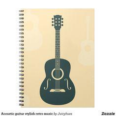 Acoustic guitar stylish retro music