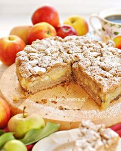 Pyszna Szarlotka Natalii z Orzechami i Kruszonką Vegetarian Recipes, Cooking Recipes, Dessert Recipes, Desserts, French Toast, Sweets, Bread, Food And Drink, Baking