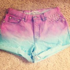 High waisted Ombre shorts