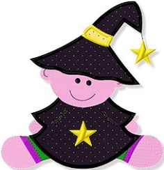 Baby Witch Applique - 3 Sizes! | Baby | Machine Embroidery Designs | SWAKembroidery.com Abigail Michelle