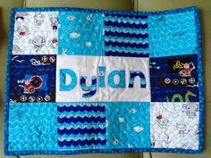 Quilted Placemat w/ appliqué name