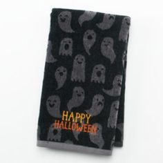 ''Happy Halloween'' Ghost Hand Towel - cute towel designed by my daughter for Kohl's