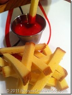 Pound Cake Fries and Raspberry Ketchup