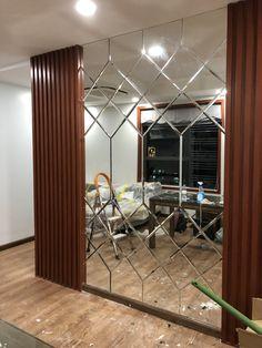Mirror Walls, Diy Mirror, Ceiling Design, Wall Design, House Design, Mirror Ornaments, Wall Panelling, Bedroom Furniture Design, Apartment Interior