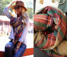Red Plaid Blanket Scarf – InStyle Auctions & Boutique