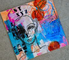 Visual journaling, mixed media art, and artsy scrapbooking. Mixed Media Faces, Mixed Media Artists, Art Projects For Teens, Art Journal Inspiration, Journal Ideas, Abstract Faces, Watercolor Techniques, Art Journal Pages, Face Art
