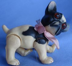 """""""1930s CELLULOID FRENCH BULLDOG FROM JUNO GERMANY.4X4"""".   eBay!"""